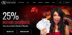 casino extreme no deposit
